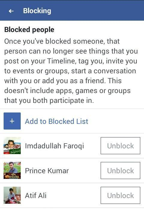 how do you get someone to unblock you on facebook