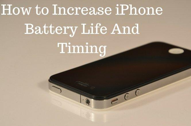 Increase iPhone Battery